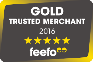 Feefo Gold trusted merchant badge