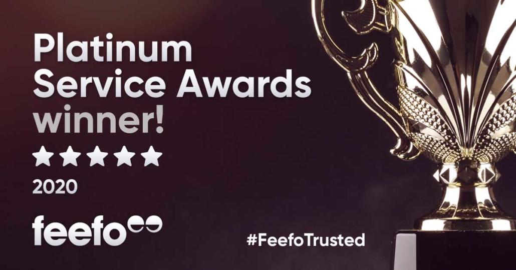 Platinum Feefo Award Banner